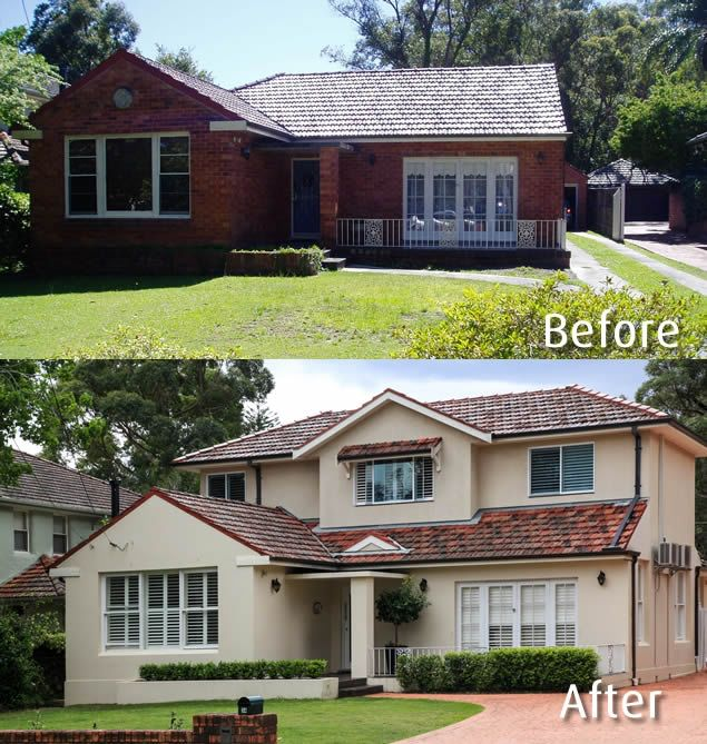House renovations before and after for Before and after home exteriors remodels